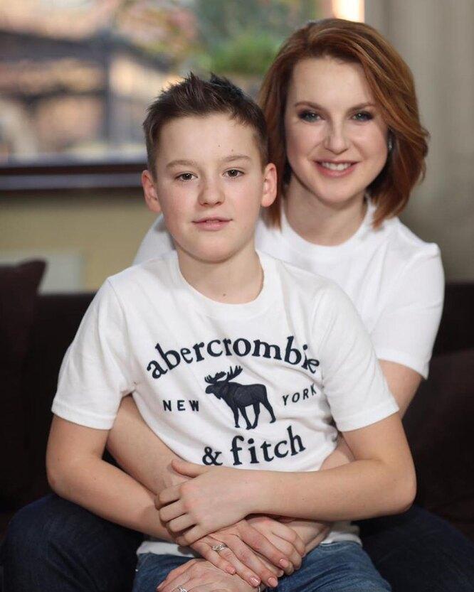 Ирина Слуцкая с сыном Артёмом