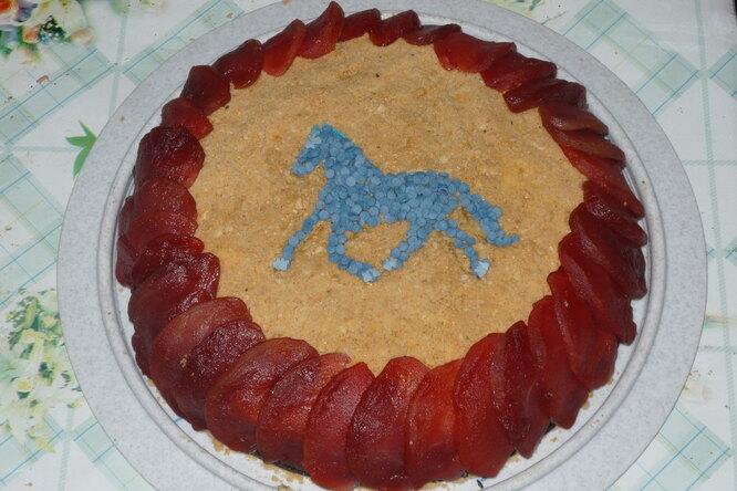 Пирог «Лошадь в яблоках»