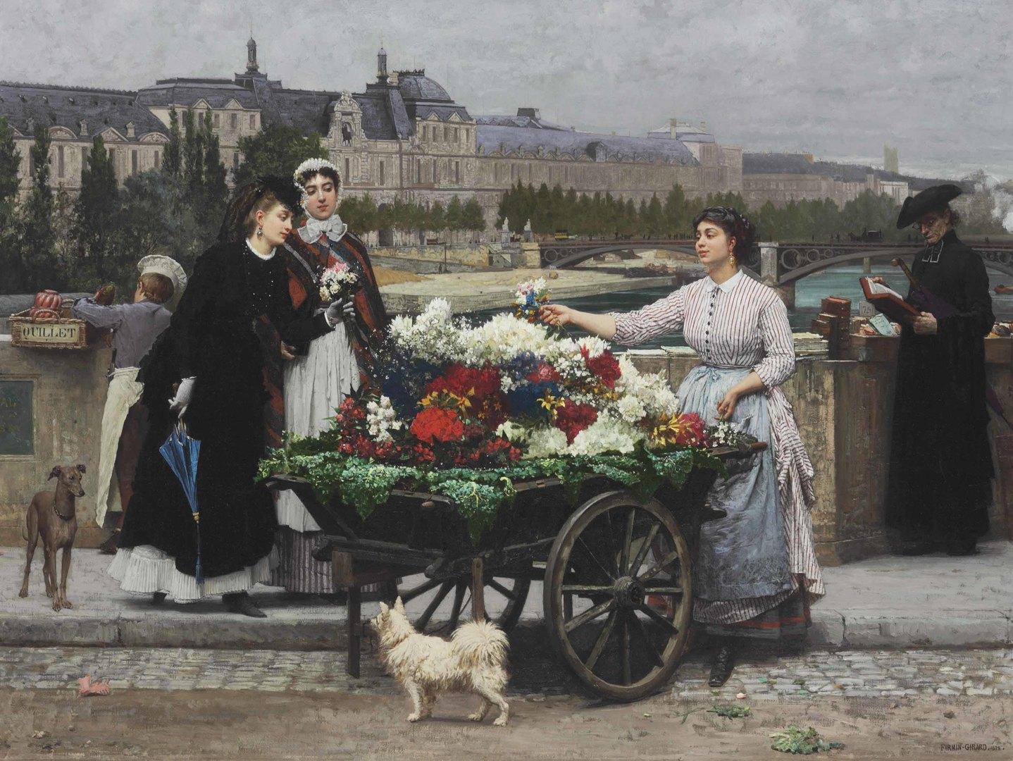 Мари-Франсуа Фермен-Жирара, « Цветочница наКоролевском мосту»