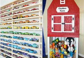 12 стильных способов организовать эти нескончаемые детские игрушки!