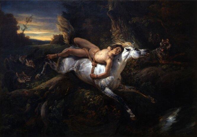 «Мазепа и волки», Орас Верне. 1986