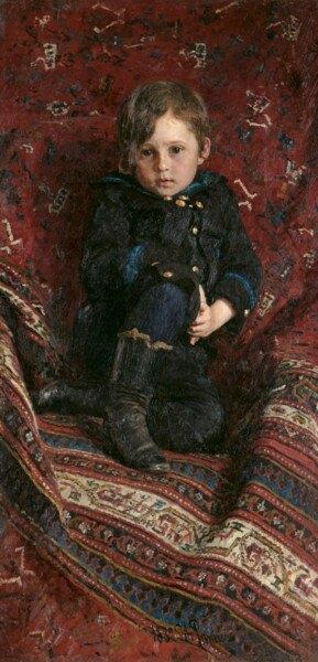Юрий Репин в детстве