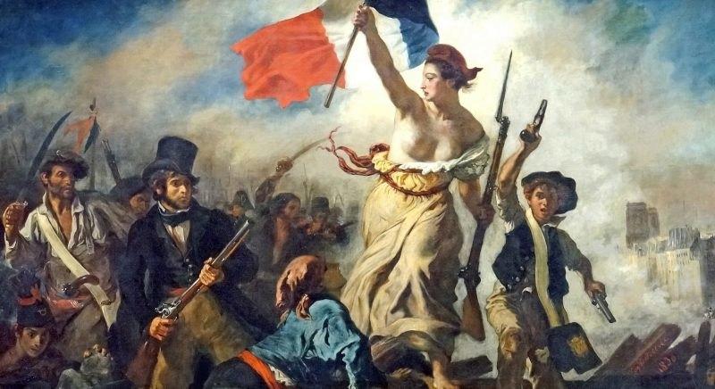«Свобода, ведущая народ» Эжен Делакруа