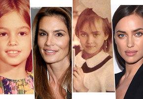 Синди Кроуфорд, Ирина Шейк и другие: как выглядели знаменитые красотки в детстве