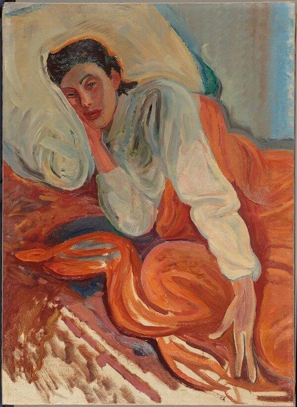 Лев Бруни. «Портрет Нины Константиновны Бальмонт-Бруни, жены художника». Вторая половина 1920