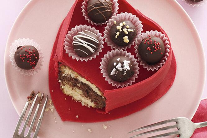 Пирожные ко Дню Святого Валентина