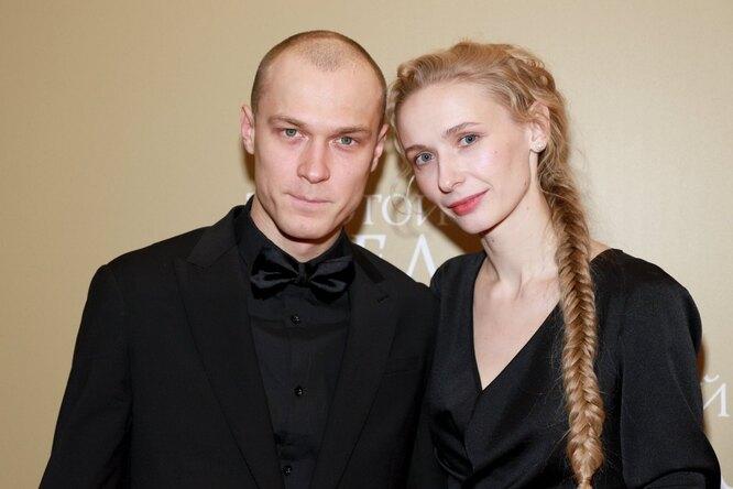 Юра Борисов с женой Анной Шевчук