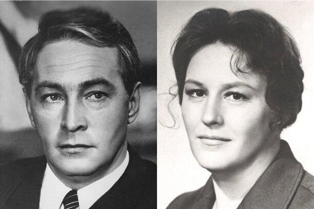 Нонна Мордюкова и Вячеслав Тихонов в юности