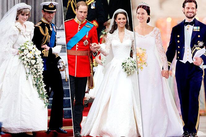 Королевская роскошь! Как менялись свадебные платья принцесс запоследние 100 лет
