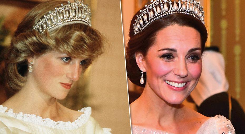 Знаменитая диадема «Узелки любви»: любимая тиара принцессы Дианы иКейт Миддлтон