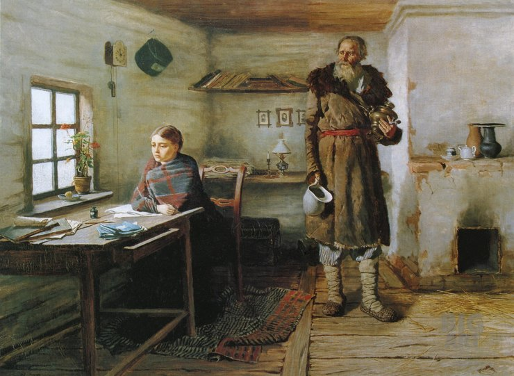 Константин Трутовский, «Сельская учительница», 1883