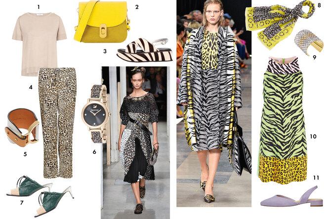 Одежда и обувь с леопардовым и тигровым принтами