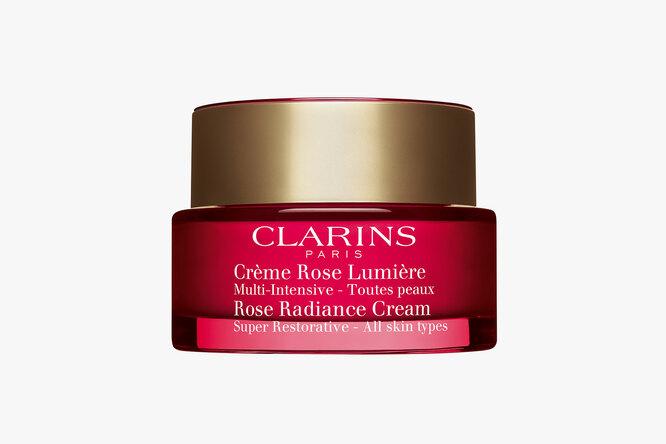 Восстанавливающий дневной крем с эффектом сияния для любого типа кожи Rose Radiance Cream, Clarins