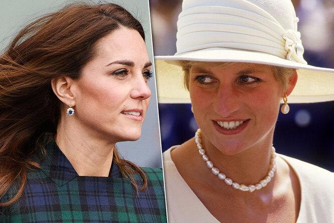 Королевское наследство: украшения принцессы Дианы, которые носят Кейт иМеган