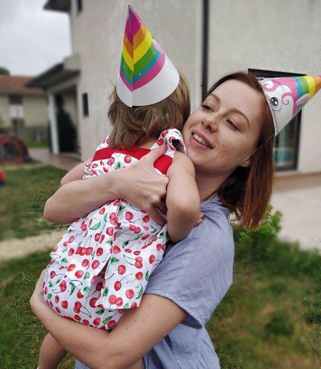 Юлия Савичева с дочерью