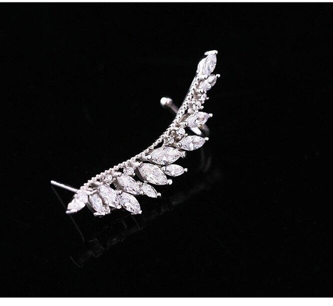 Серьги-гвоздики с кристаллами, Aliexpress, 301 руб