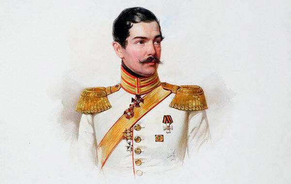 В. Гау. Портрет П. П. Ланского. 1847. Альбом лейб-гвардии Конного полка
