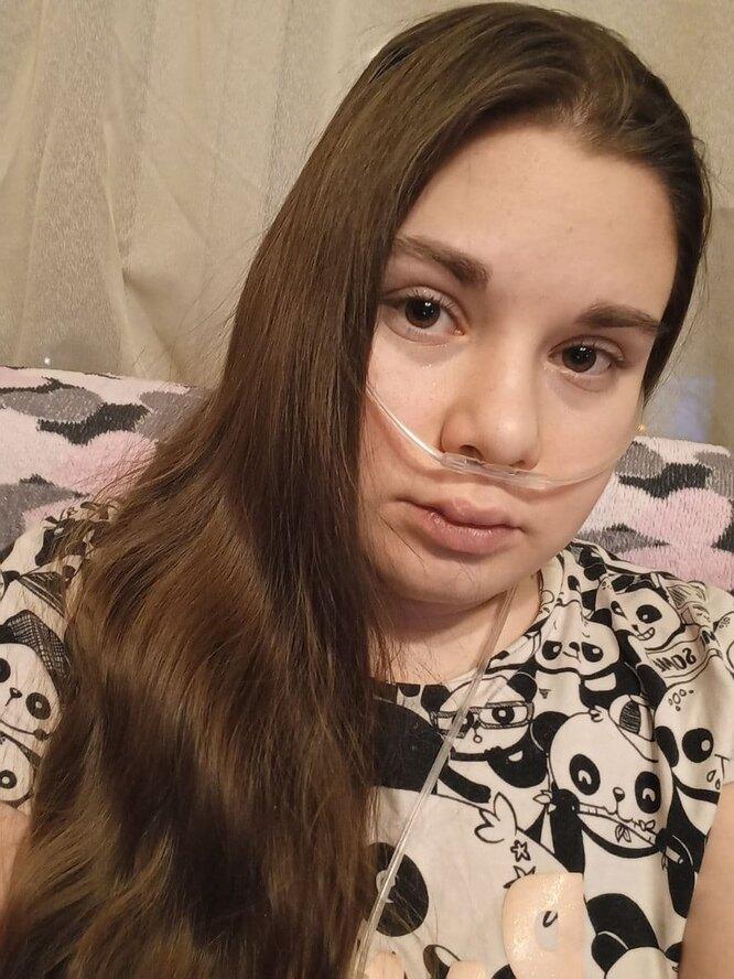 Саша с кислородным концентратором