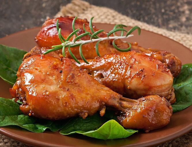 Куриные бедрышки в остро-сладкой глазури