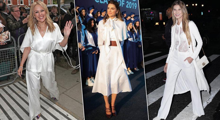 Белый всегда втренде: пять стильных образов отзвезд