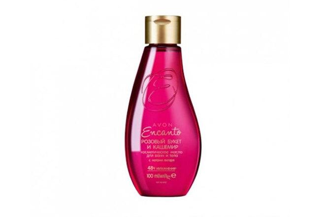 """Косметическое масло для ванн и тела """"Розовый букет и кашемир"""", Avon"""