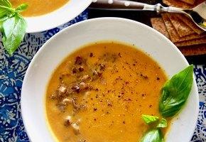Крутой рецепт тыквенного супа с грибами. Приготовьте, не пожалеете!