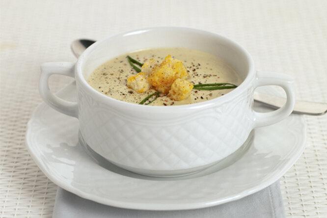 Крем - суп с гренками