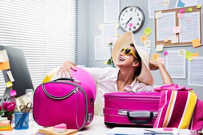 отпуск, женщина, чемодан, шляпа