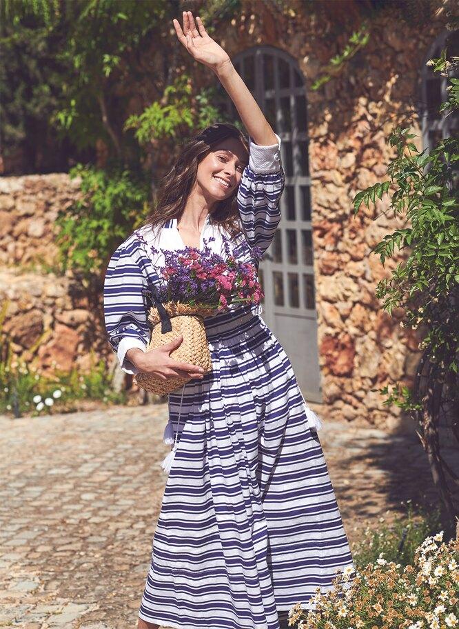 Платье, Seraphina; сумка, Jigsaw