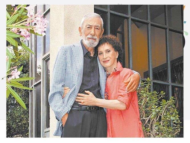 Вахтанг Кикабидзе с женой