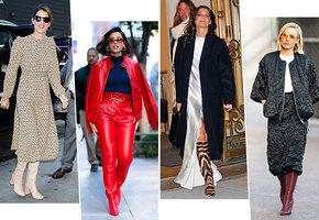 Цветные сапоги лучше черных! 9 модных образов, которые вам это докажут