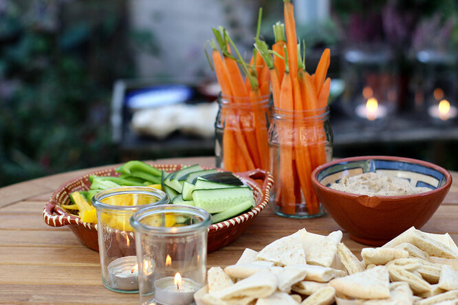 Палочки из свежих овощей