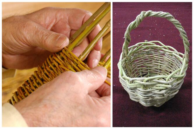 Мастер-класс: плетение корзин излозы