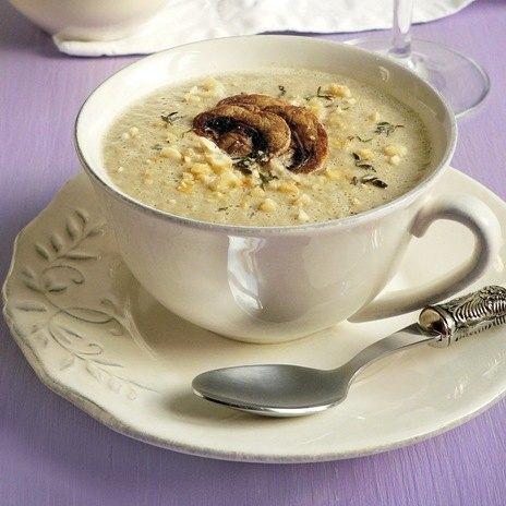 Рецепт супа - капуччино из шампиньонов