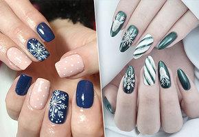 Сами с ногтями: 10 вариантов маникюра со снежинками, которые можно сделать дома