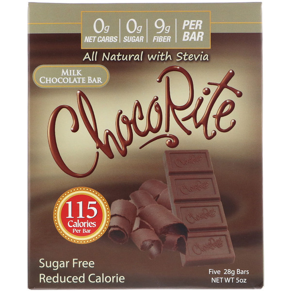 Молочный шоколад, бездобавления сахара HealthSmart Foods, ChocoRite, 450 руб.