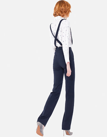 Строгие брюки со съемными бретелями, перекрещенными наспине, LO, 6999 руб.